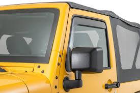 weathertech jeep wrangler weathertech 80443 front side window deflectors in smoke for