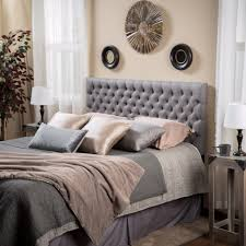 Grey Tufted Headboard Bed Gray Tufted Headboard Soft Grey Headboard Grey Tufted