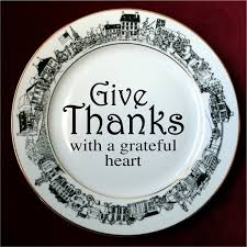 personalized dinner plate give thanks personalized black white dinner plate