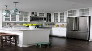White Kitchen Cabinets With Tile Floor Kitchen Glass Countertops White Kitchen Cabinets With Dark