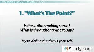 Get the Gist of an Essay  amp  Improve Reading Comprehension Study com