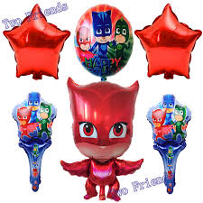 aliexpress buy 6pcs lot cartoon party supplies pj masks