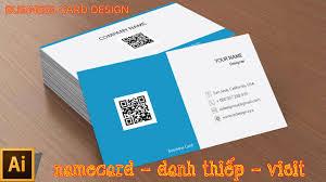 cách thiết kế namecard 02 template business card design