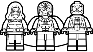 lego spiderman vs lego magneto vs lego dr doom coloring book