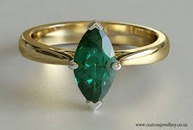 emerald rings uk emerald marquise solitaire engagement ring new zealand