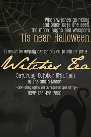 Free Printable Halloween Invitations For Party by How To Host A Witches Tea Party