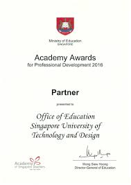 singapore university of technology and design achievements