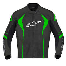 perforated leather motorcycle jacket alpinestars gp r perforated leather jacket black green
