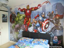 dulux avengers assemble mural review et speaks from home it took me about 6 working hours to get everything done by myself from putting the wallpaper to painting the wall if you have someone to help