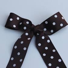 and white polka dot ribbon brown white polka dot ribbon 1 5 inches 10 yards white