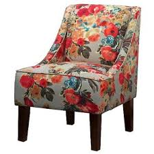 Floral Accent Chair Swoop Chairs Patterned Polyvore