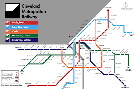 Dart Train Map Imaginary Cleveland Subway Map By U Ph3r And Maps Complutense