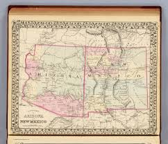 New Mexico Maps Arizona New Mexico David Rumsey Historical Map Collection