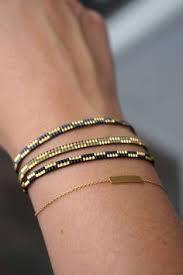 Handmade Seed Beaded Gold Plated Bohemian Rings Set Purple Boho Rings Six Beaded By Happybeadwork