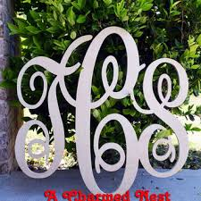 Monogram Letters Home Decor Rustic Shabby Chic Wedding Guest Book Alternative Wedding Decor 24