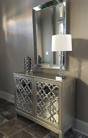 cabinet rita mirrored console accent cabinet beautiful mirrored