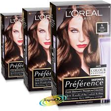 Light Brown Dye 3x Loreal Preference Capri 6 Natural Light Brown Permanent Hair