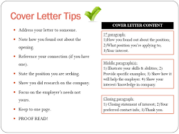 content of a cover letter cover letter index of