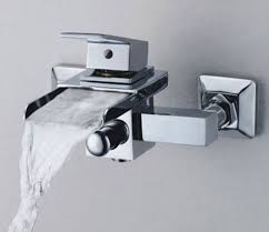 single handle wall mount waterfall bathroom sink faucet or bathtub