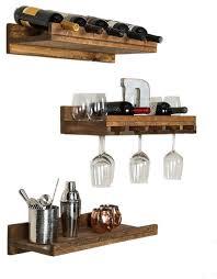 wall mounted wine glass shelf houzz