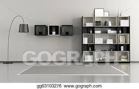 livingroom gg stock illustration minimalist empty livingroom clipart drawing