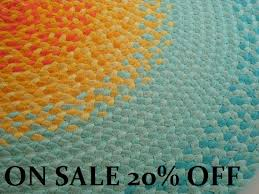 Mint Rug Recycled Hand Braided Round Area Rug 100 Cotton Floor Rug In