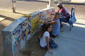 tucson mural arts program bbvn tile mosaic mural workshops dates set as most of you know bbvn is working with a tucson artist to construct tile mosaic murals on the two low walls at the intersection of the treat walkway and