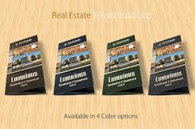 Microsoft Real Estate Flyer Templates by Real Estate Trifold Brochure Brochure Templates Creative Market