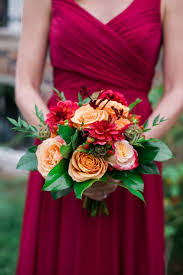 bridesmaid bouquet fall wedding bouquet ideas and which flowers they re made with