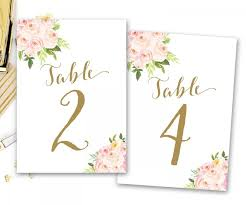 table numbers wedding printable table numbers floral floral table numbers boho floral