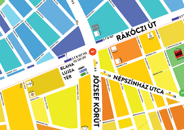 Map Of Budapest Eggmap On Behance