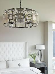 master bedroom lighting ideas crystal drum light fixture in bedroom