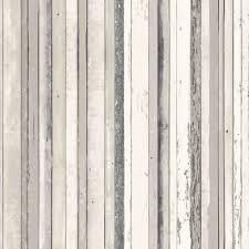 B Q Home Decor by Fine Décor Grey Wood Stripe Wallpaper Striped Wallpaper
