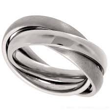 mens wedding rings uk 3 band russian wedding ring made of titanium