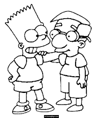 printable simpsons bart simpson super hero coloring pages