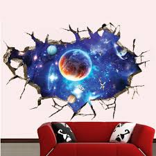 online buy wholesale wall sticker space invaders from china wall galaxy planet space wall sticker for kids boys bedroom art vinyl 3d wall decal peel and