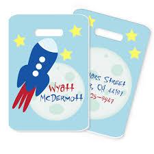 rocket ship bag tag space rocket personalized monogrammed bag