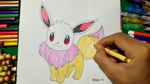 eevee coloring page pokemon coloring book for kids learning