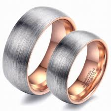 Couple Wedding Rings by Couple Wedding Jewelry For Lovers Couple Tungsten Ring Dull Polish