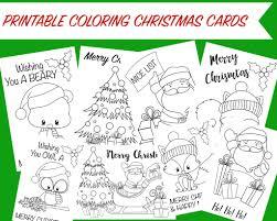 printable christmas cards for mom christmas coloring cards free printable christmas activity for kids