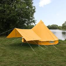 Bell Tent Awning Sky Blue Bell Tent Boutique Camping