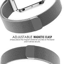 steel bracelet strap images Greatfine straps for fitbit blaze milanese loop watch band jpg