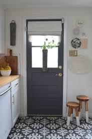 gray paint change up on our interior kitchen door interior door