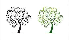 swirly tree vector vectorish
