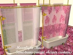 Transparent Shower Curtain Mod The Sims Semi Transparent Colonial Shower Curtains Updated