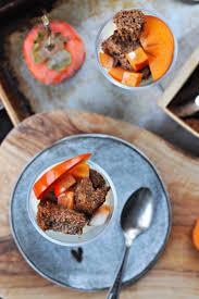 grain free mini persimmon spice cakes eggnog parfaits the