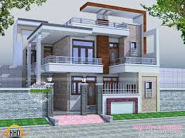 flat roof indian house traditional mix kerala villa 4 bhk home