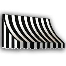 Awning Lowes Shop Awntech 40 5 In Wide X 24 In Projection Black White Stripe
