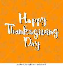 handwritten thanksgiving day lettering vector illustration stock