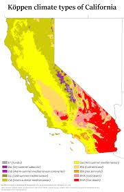 State Map Of California by Climate Of California Wikipedia